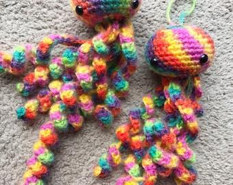 Crochet Jellyfish Amigurumi Jelly fish Stuffed Jellyfish