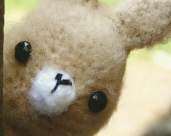 Amigurumi crochet dressed rabbit