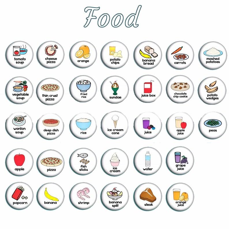 English as a Second Language Autism Spectrum Communication Resources Miniature Food Magnets ESL Teacher Preschool Classroom Aids