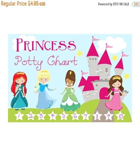 Sale princess potty chart reward chart reward system etsy