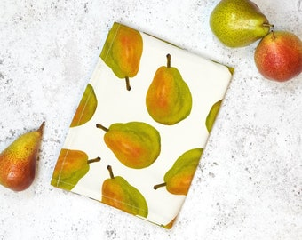 Pear Tea Towel - Watercolour illustration - Perfect for your Kitchen - Made in the UK