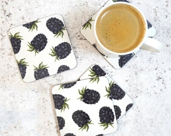 Blackberry Coaster Set - Made in the UK - Kitchen Product