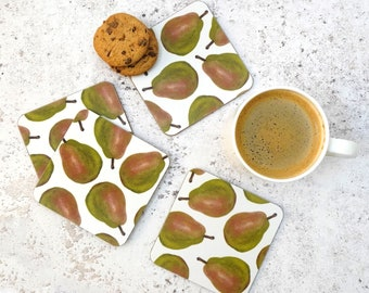 Pear Coaster Set - Made in the UK - Kitchen Product