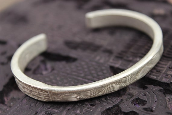 Hmong Hand Engraved Bangle Hill Tribe Asian Bracelet Tribal Ethnic Metal Silver Copper by Etsy
