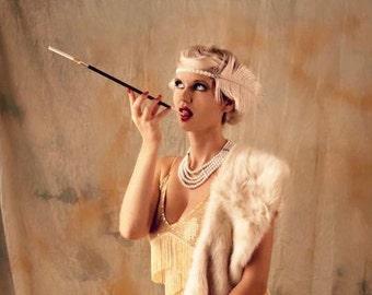1920s Charleston feather flapper headdress - MISS HARDIN