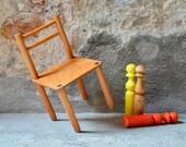 Vintage child's wooden chair
