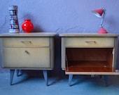 Vintage wooden nightstands