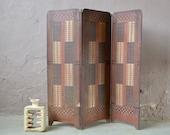 Screen claustra boho, Art Deco room separator.