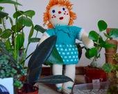 Bohemian retro crochet blanket doll handmade poetry gift for newborn baby crocheted blankie amiguramis doll birth gift french craft