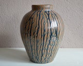 Vase ceramic artistic stoneware art deco Jean Dunand stoneware glazed antic English ceram midcentury English art flower pot workshop beautiful lurette