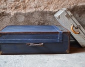Cabin malle, old suitcase with fittings. Vintage decoration