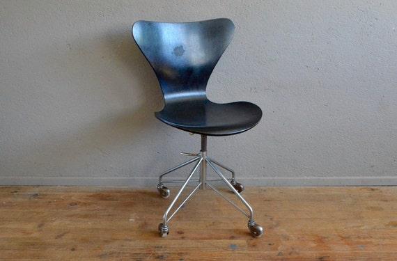 Chaise De Bureau Arne Jacobsen Serie 7 Edition Fritz Hansen Etsy