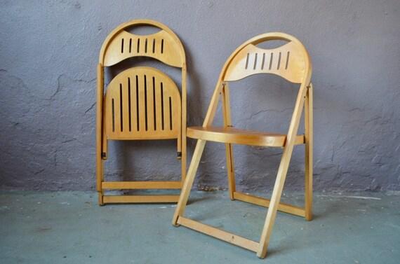 Chaises pliantes modernistes bois clair