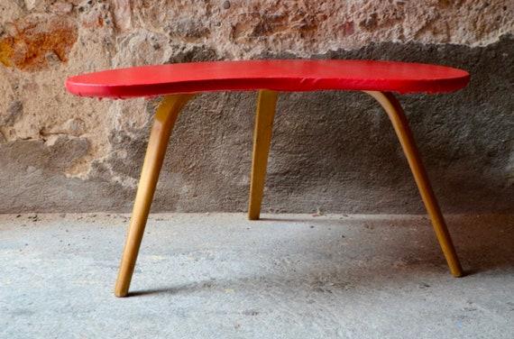 Table Basse En Bois Vintage Design Bow Wood Steiner Etsy