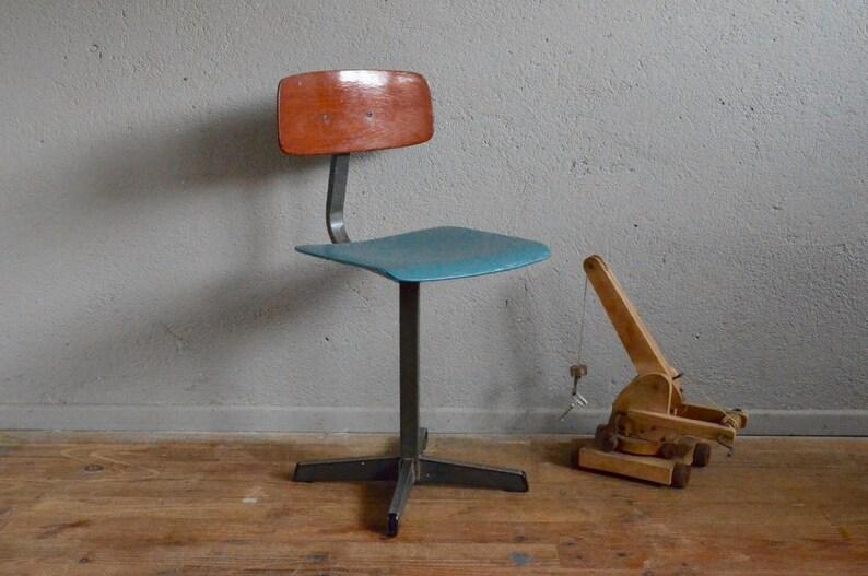 Étoile 60 Chaise Kid Industrial Enfant Midcentury Vintage Belle Années Piétement Chair Rétro Indus Style Pagholz Design Lurette Antic PkiZuX