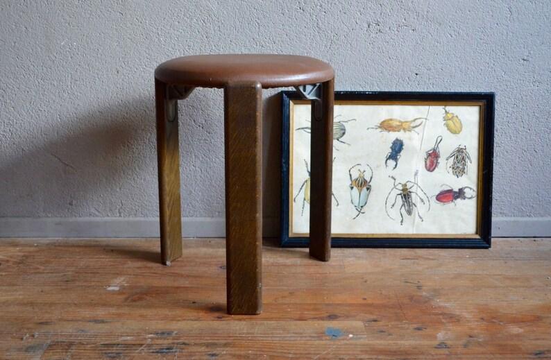 Sgabello design bruno rey stein aus di svizzera vintage retrò etsy