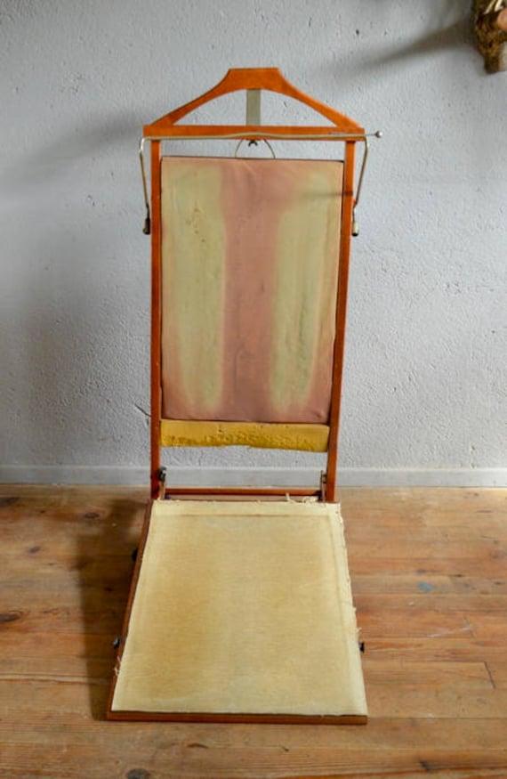 Porte manteau portant valet de chambre serviteur Ico Parisi design italien  logo Fratelli Reguitti Chauffant presse pantalon clothes hanger