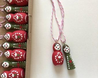 "Set of 12 ""Matryoshka"" decorative pendants / Christmas decorations / Tree decorations / Christmas decorations"