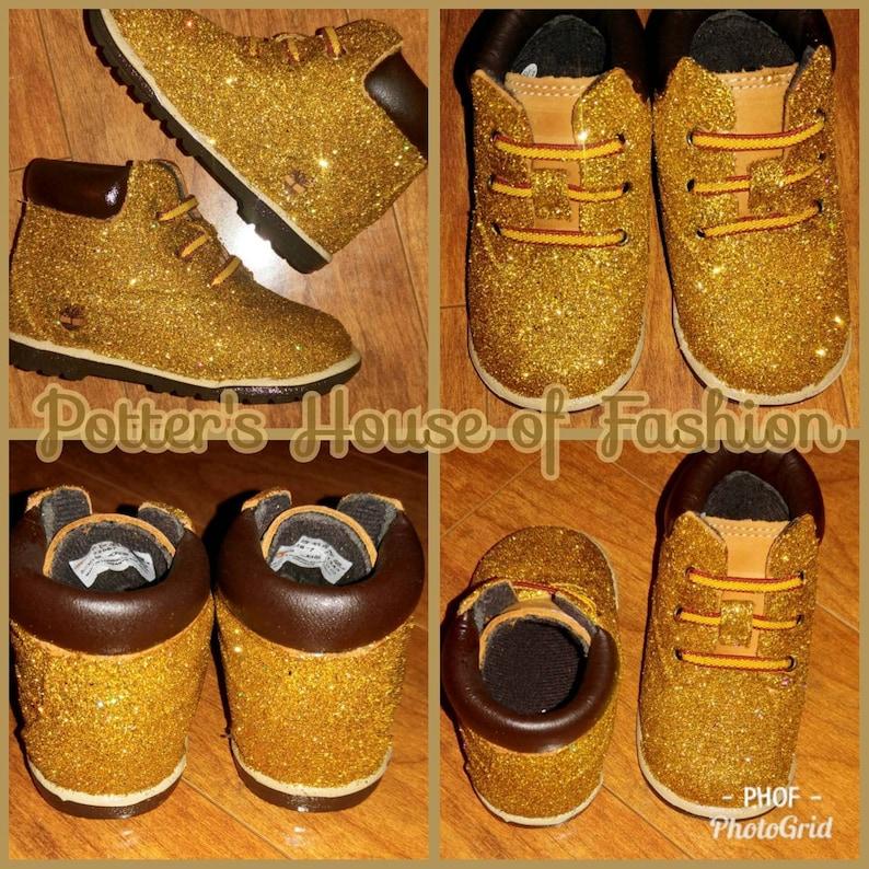 5eab5671d19 Babygirl or babyboy 24K gold Timberland boots Crib style