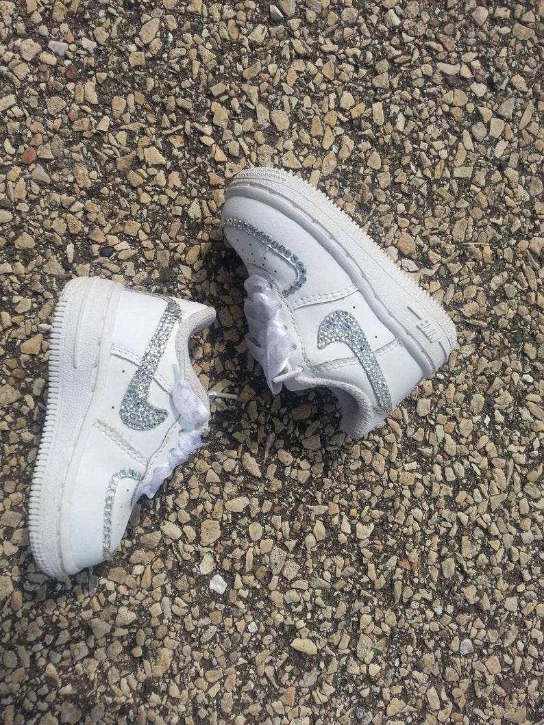 7a6e48881350 Bling Nike Air force ones for baby girls and toddlers