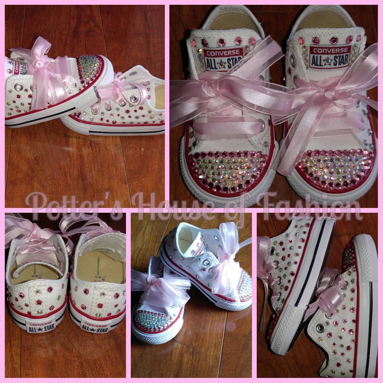 d957d4b060a5b Girl's bling Converse Chuck Taylor shoes! Great for special occasion,  wedding, birthday