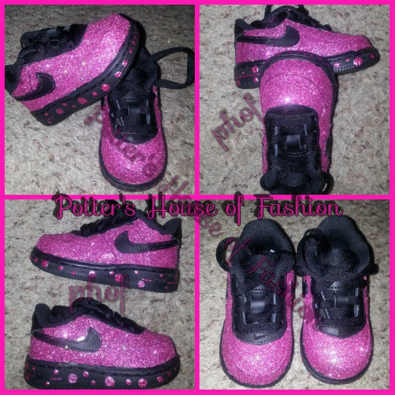 brand new 8cc78 4c7ed Glitter Nike air force 1s Baby girl and toddler great  Etsy