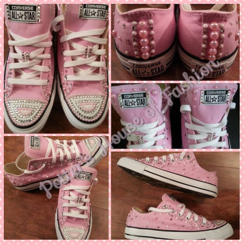 f24f9325a635 Women bling converse all star s wedding bridal party