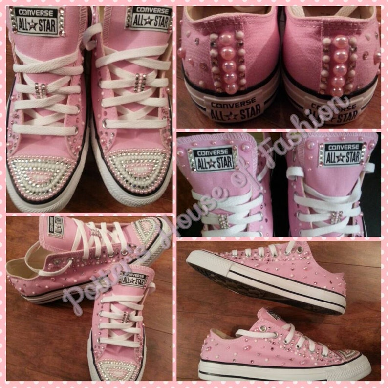 94ebe7ee6d33c Women bling converse all star's, wedding, bridal party, prom, special  occasion, bride, bridesmaid