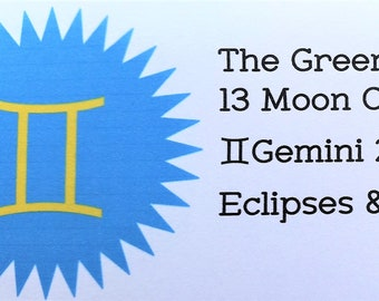 Gemini, The Green Mountain Moon Journal, Moon Cycle, Moon Phase, Astrology, Eclipses, instant download, Gemini 2018-Gemini 2019