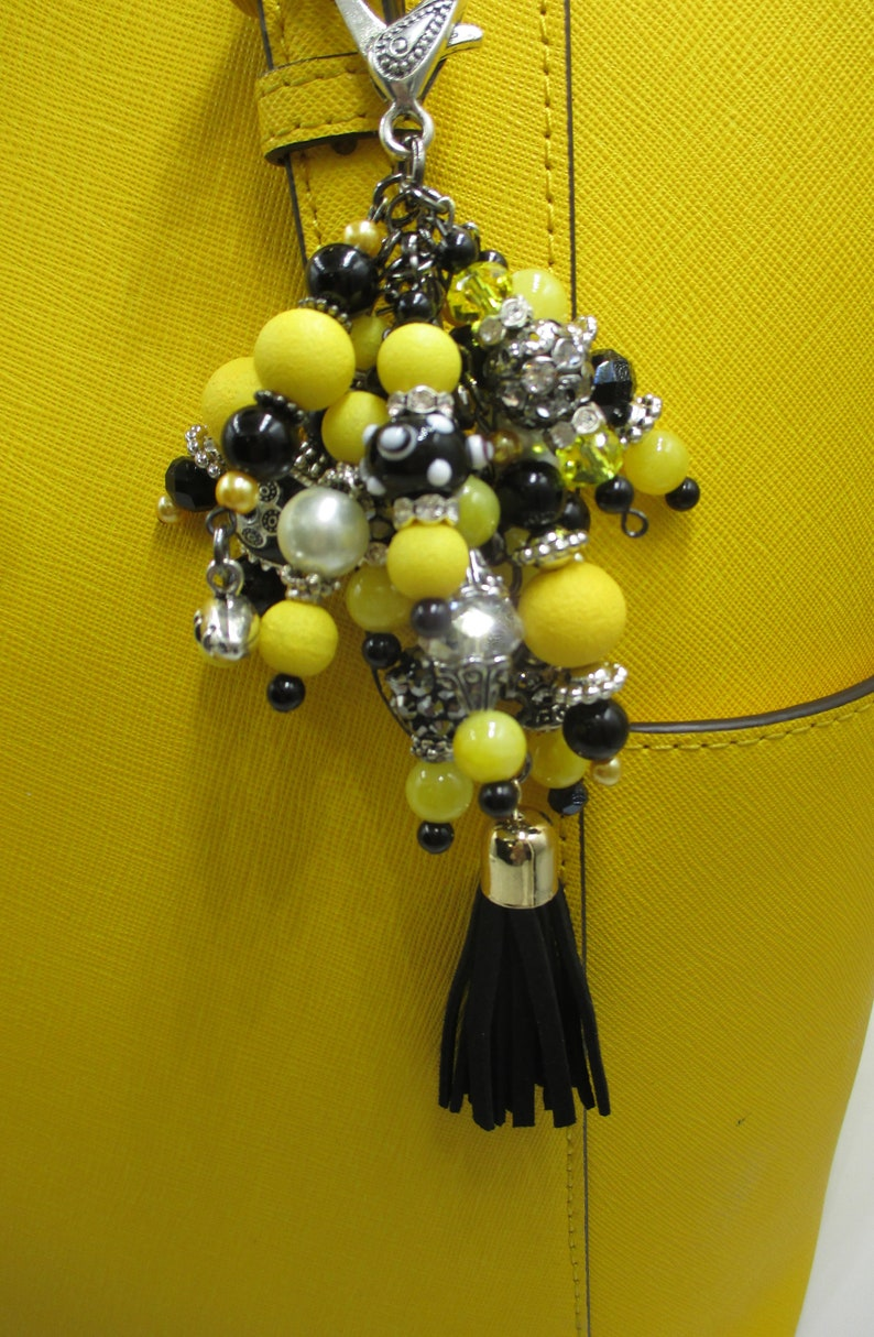 Beaded purse enhancers The Perfect Gift Purse enhancers Purse charms Pittsburgh Steelers Purse decorations Purse Bling for your purse