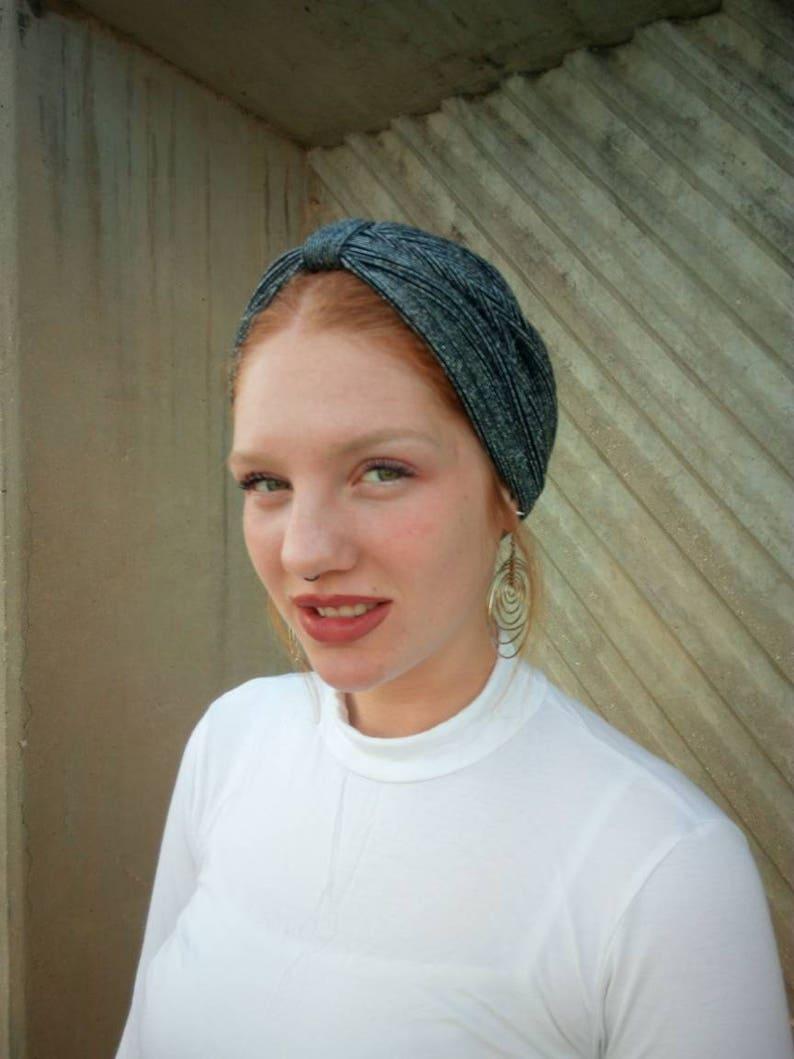 women/'s turban hat,turban headwrap,hijab,chemo headwear,fashion turban Sale Silver turban hat evening head wear