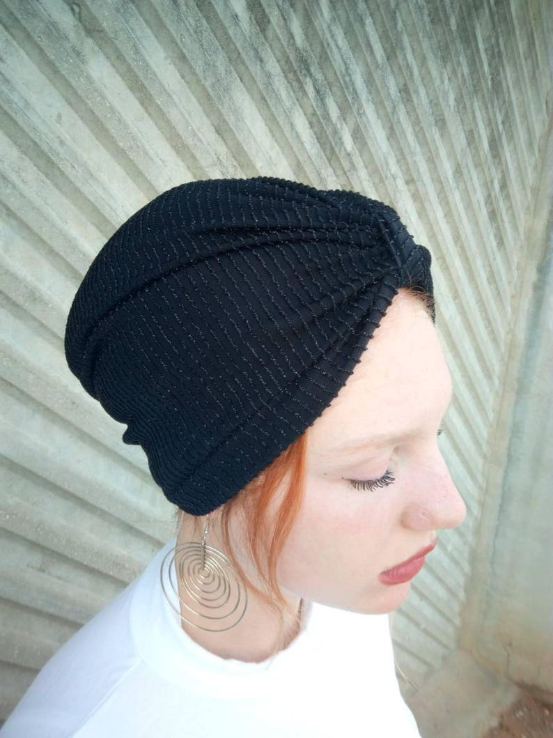Tutte le turbante nero cappello turbante di donne turbante  6b0e4af4f1be