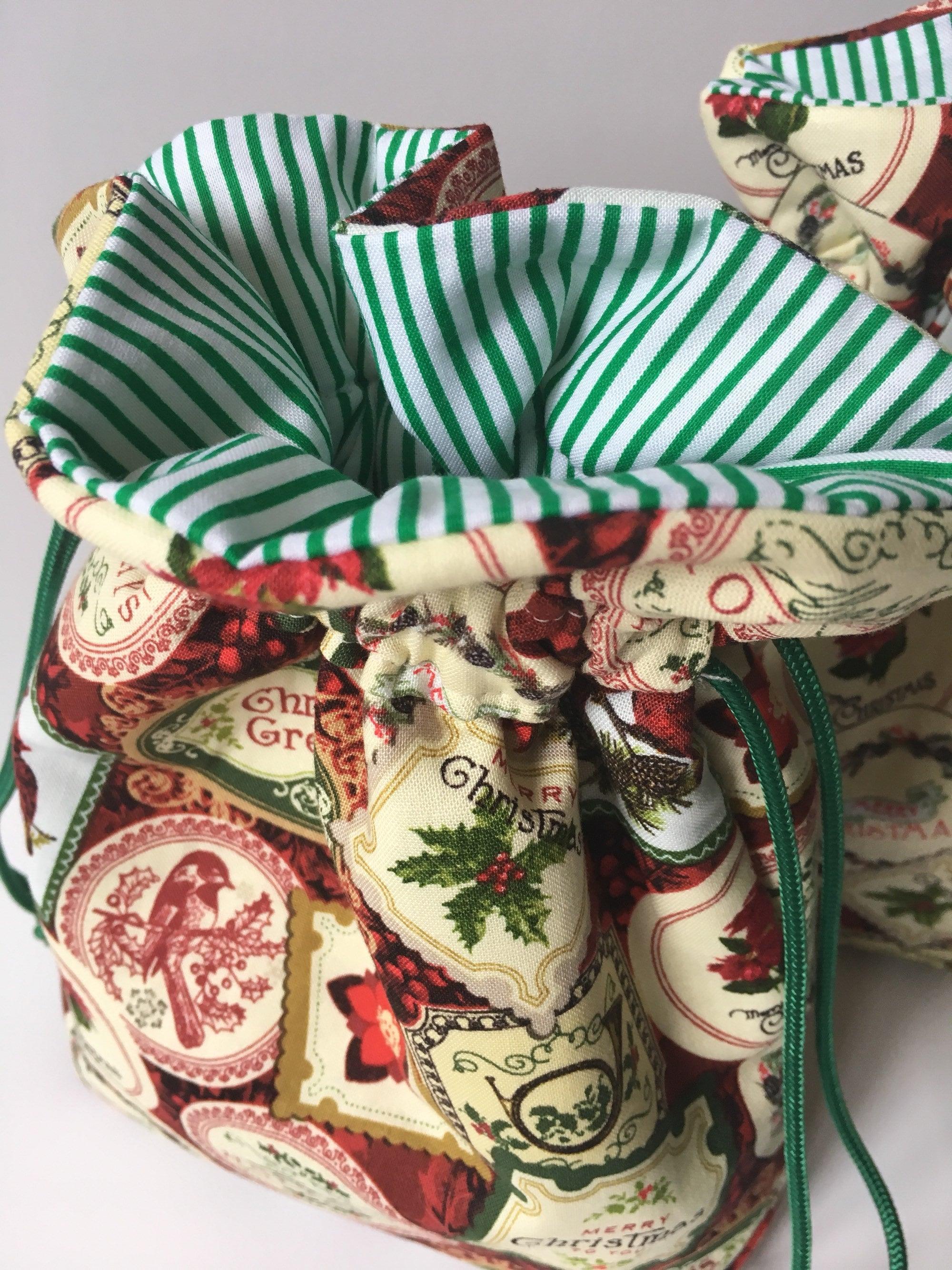 Stoff Weihnachten Tasche Wichteln Chanukka Geschenk Tuch | Etsy