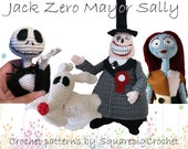 Crochet pattern Jack, Zero, Mayor and Sally (Nightmare before Christmas)