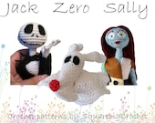 Crochet pattern Jack, Zero and Sally (Nightmare before Christmas)