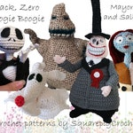 Crochet pattern Jack, Zero, Oogie Boogie, the Mayor and Sally (Nightmare before Christmas)