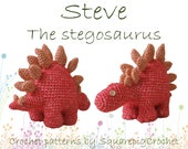 Dinosaur crochet pattern Steve the Stegosaurus