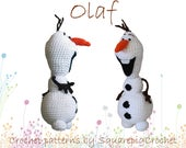 Olaf crochet pattern from Frozen! About 10 inches tall
