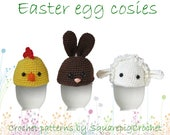 Easter egg cosies crochet pattern