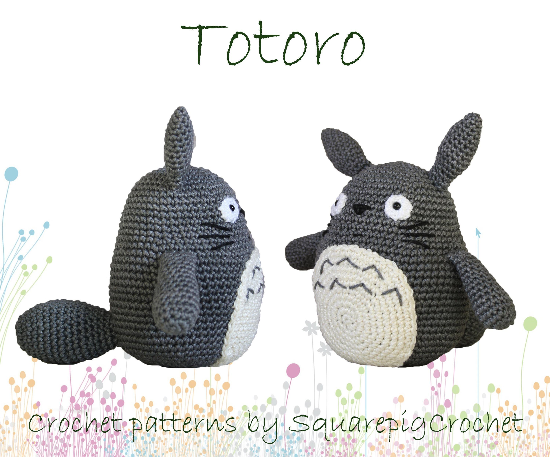 Totoro crochet pattern 6 inch high amigurumi | Etsy