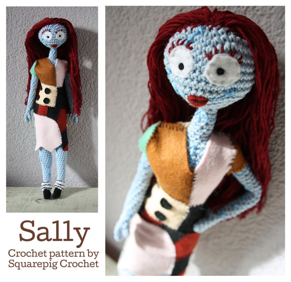 Crochet Amigurumi Doll Tutorial - Sally (Part 2/2) | Amigurumi ... | 551x570