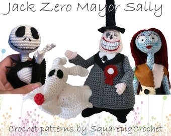 Crochet pattern Jack, Zero, Mayor and Sally (Nightmare before Christmas)