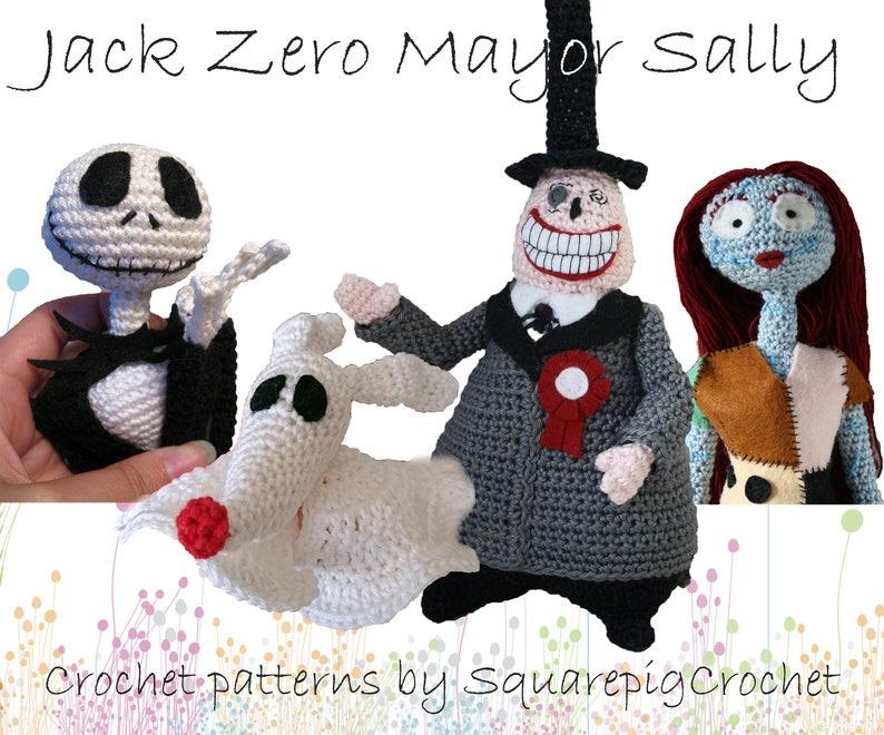 Crochet pattern Jack Zero Mayor and Sally Nightmare before image 0