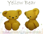 Bear crochet pattern, about 12 inches tall!
