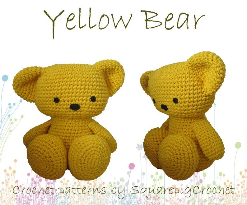 Bear crochet pattern about 12 inches tall image 0