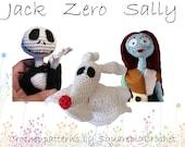 Crochet pattern Jack, Zero and Sally (Nightmare before Christmas)
