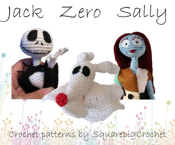 Jack Skellington Lovey Crochet Pattern INSTANT DOWNLOAD | Etsy | 473x570