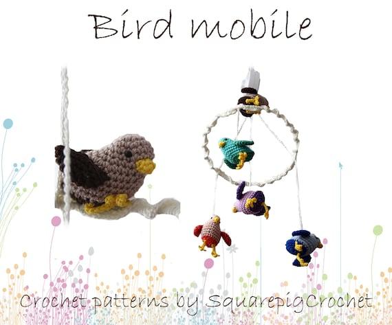 Haakpatroon Voor Baby Vogel Mobile Met Muziekdoosje Etsy