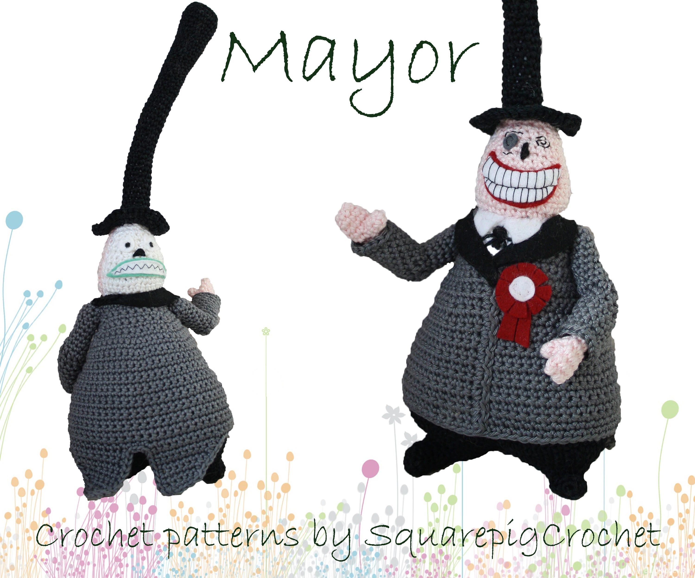 Crochet pattern Mayor The Nightmare before Christmas | Etsy