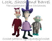Lock, Shock and Barrel crochet patterns (The Nightmare Before Christmas)